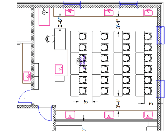 Science Classroom Layout