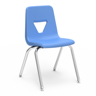 2000 4-Leg Stack Chair with soft plastic chair bucket and steel frame