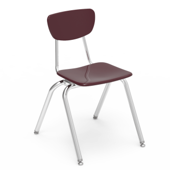3000 Chair with hard plastic seat and separate back, and steel frame