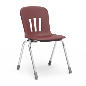 Metaphor 4-Leg Stack Chair with a soft plastic seat bucket and steel frame.