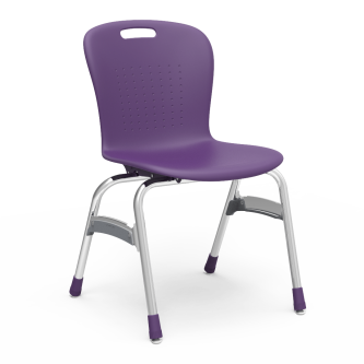 Sage 4-Leg Stack Chair with a soft plastic seat bucket and steel frame.