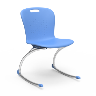 Sage Rocking Chair with a soft plastic seat bucket and Cantilever steel frame.