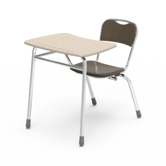 Telos Series Chair Desk with Bowfront Top
