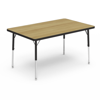 4000 Series Table with a Rectangle Top and Steel Adjustable Legs