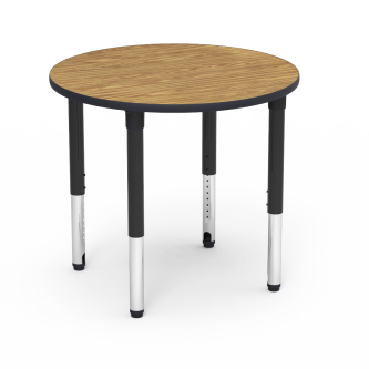 5000 Series Table with Round Top and Adjustable Steel Legs