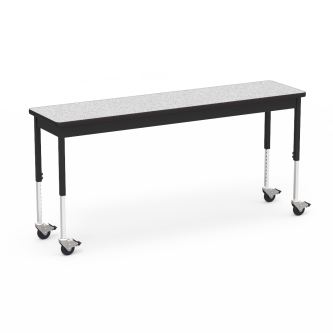 """6800 Series Table with Rectangle Top"""" with Steel Apron and  Adjustable Steel Legs on Casters"""