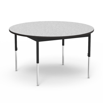 "6800 Series Table with Round Top"" with Steel Apron and  Adjustable Steel Legs"