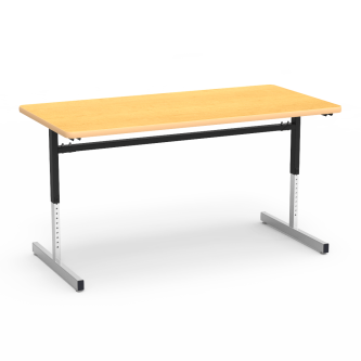 8700 Series Table with Rectangle Top and Adjustable Steel Legs