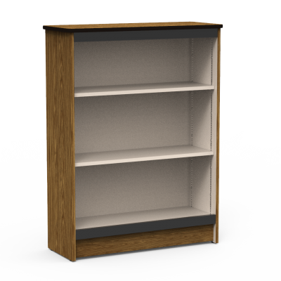 Steel Frame Bookcase with Three Steel Shelves