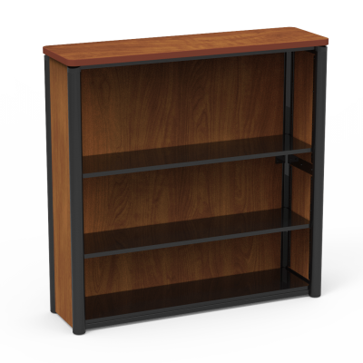 "Plateau Series Bookcase with"" Three Steel Shelves"