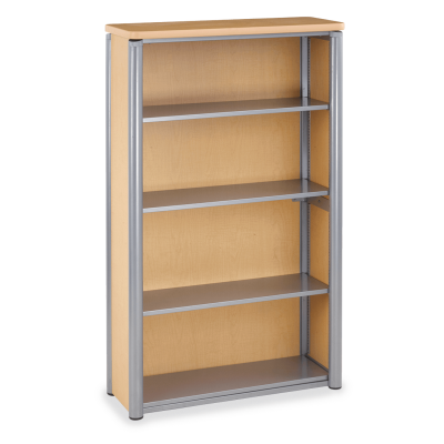 Plateau Series Bookcase with Three Steel Shelves