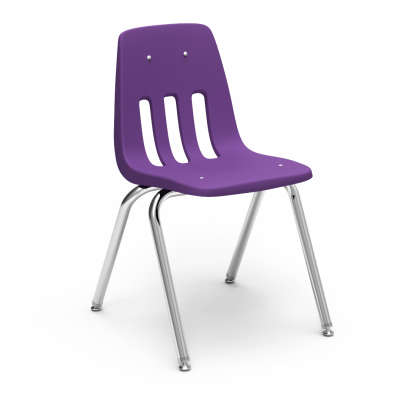 9000 Chair with soft plastic seat bucket and steel frame