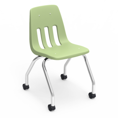 9000 Series 4-Leg Mobile Chair with casters, and a soft plastic seat bucket.