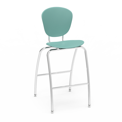 Parison 4-Leg Stool with two piece soft plastic bucket and steel frame.
