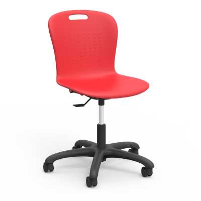 """Sage Mobile Task Chair with a soft plastic seat bucket, pedestal base, and five 2"""" diameter, dual wheel, hooded swivel casters."""