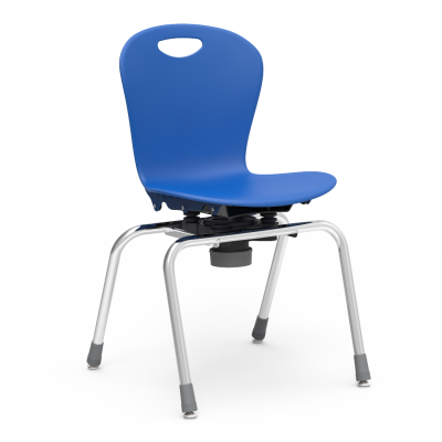 Zuma Choose to Move 4-Leg Chair with a soft plastic seat bucket and a steel frame.