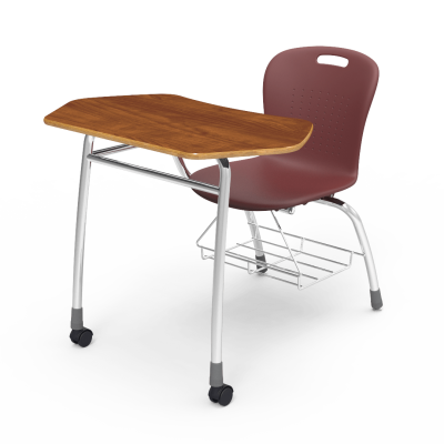 Sage Agile Combo Unit with collaborative top, soft plastic seat bucket, and steel civitas frame with bookrack.