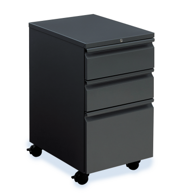 53 Series Mobile Pedestal with Three Drawers on Casters