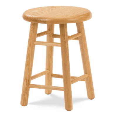 "123 Series 18"" high Lab Stool with all wood seat and frame."
