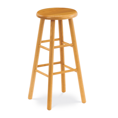 "123 Series 30"" high Lab Stool with all wood seat and frame."