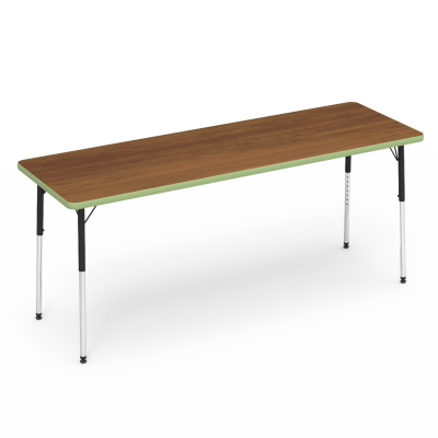 4000 Series Table with Rectangle Top and Steel Adjustable Legs