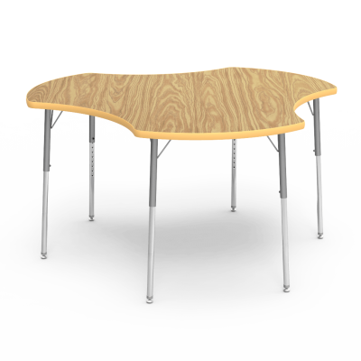 4000 Series Table with Hub Top and Adjustable Steel Legs