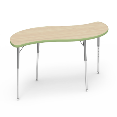 4000 Series Table with Leaf Shape Top and Adjustable Steel Legs