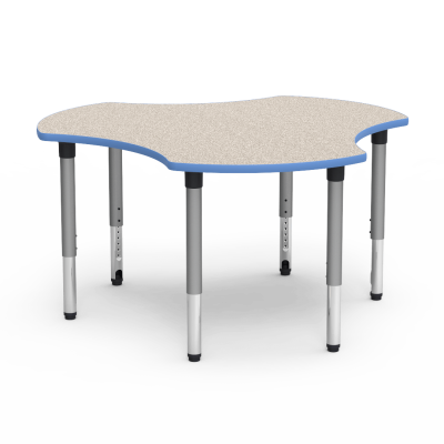 5000 Series Table with Hub Shape Top and Adjustable Steel Legs