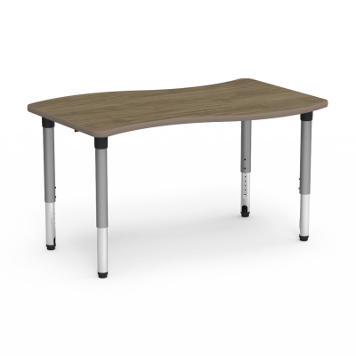 5000 Series Table with Slide Shape Top and Adjustable Steel Legs