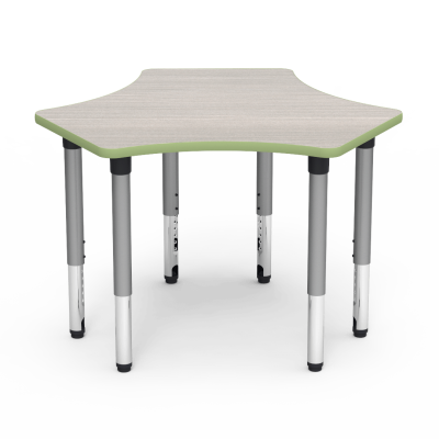 5000 Series Table with Spoke Shape Top and Adjustable Steel Legs