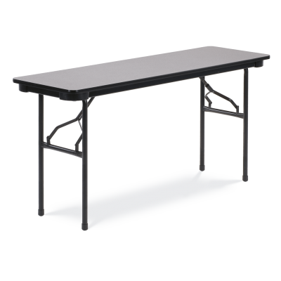 6000 Series Table with Rectangle Top and  Folding Steel Legs