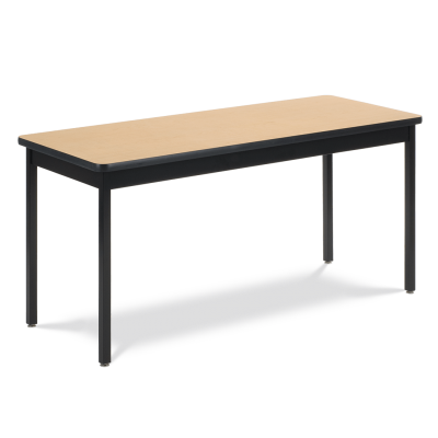 6800 Series Table with Rectangle Top, Steel Apron, and Steel Legs