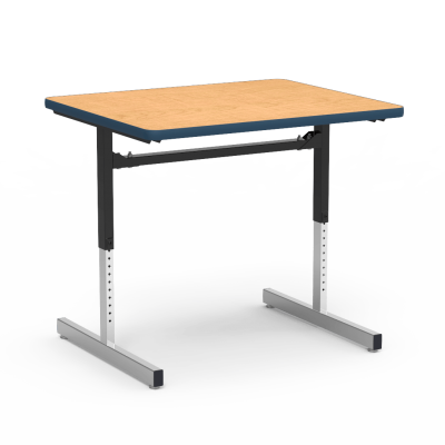 """8700 Series Table with"""" Rectangle Top and Adjustable Steel Legs"""