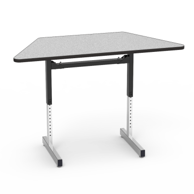 """8700 Series Table with"""" Trapezoid Top and Adjustable Steel Legs"""