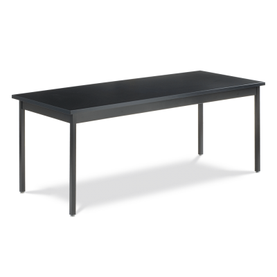 Science Table with Rectangle Epoxy Resin Top and Steel Apron and Steel Legs