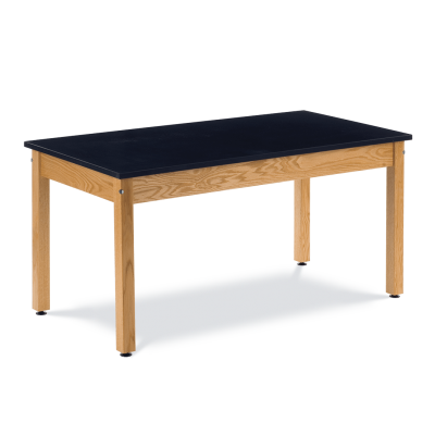 Science Table with Rectangle Chemsurf Top and Wooden Table Frame